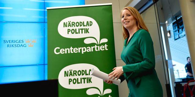 Partiledaren Annie Lööf Stina Stjernkvist/TT / TT NYHETSBYRÅN