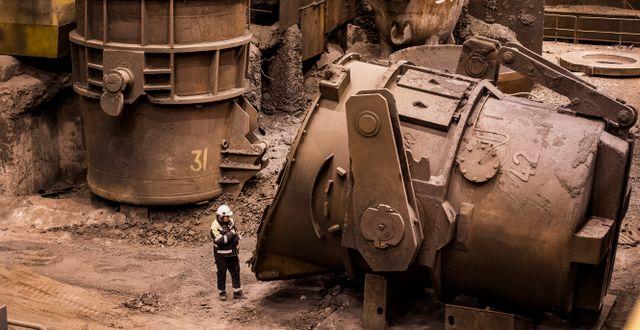 Arkivbild: Interiör från Oxelösunds järnverk som är en del av stålkoncernen SSAB. Marcus Ericsson/TT / TT NYHETSBYRÅN