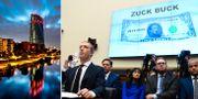 ECB:s högkvarter, Facebooks Mark Zuckerberg frågas ut om libran av USA:s kongress. TT