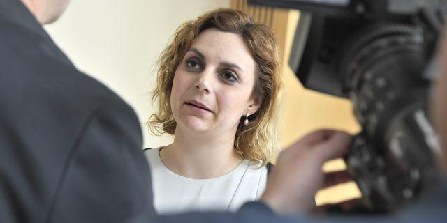 Paula Bieler (SD).  Claudio Bresciani/TT / TT NYHETSBYRÅN