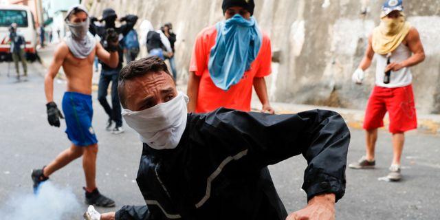Arkivbild från protesterna i januari.  Carlos Garcia Rawlins / TT NYHETSBYRÅN