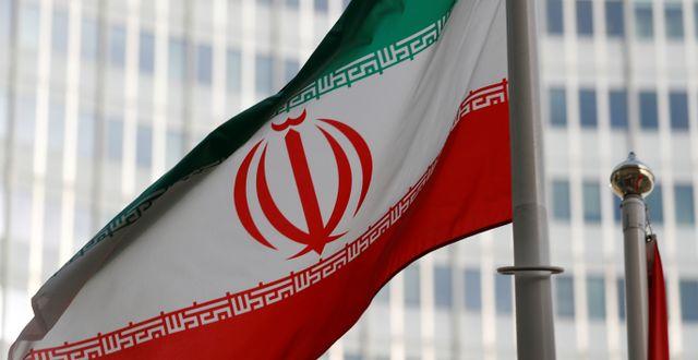 Irans flagga. Leonhard Foeger / TT NYHETSBYRÅN