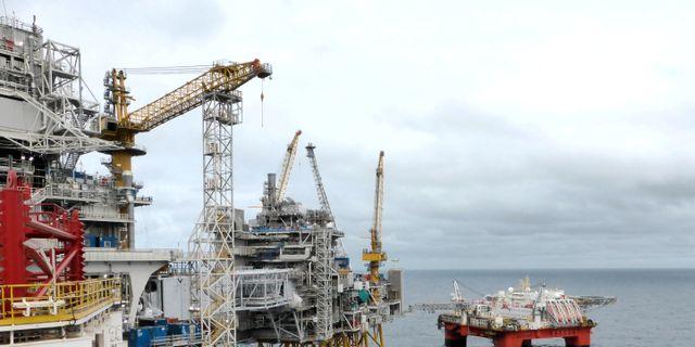 """""""Den första oljan har anlänt till Mongstad bara några dagar efter att produktionen inleddes och fältet producerar bra"""", skriver bolaget. Nerijus Adomaitis / TT NYHETSBYRÅN"""