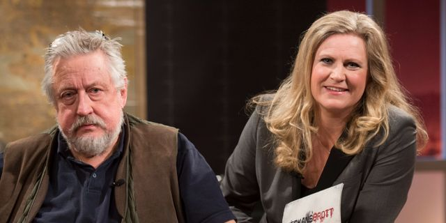 Leif GW Persson och Camilla Kvartoft.  FREDRIK SANDBERG / TT / TT NYHETSBYRÅN
