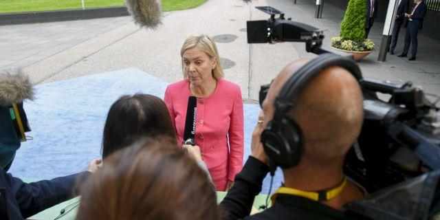 Finansminister Magdalena Andersson  MARTTI KAINULAINEN / Lehtikuva