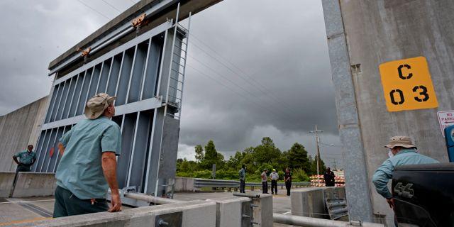 Skyddsvallar mot översvämning i Louisiana MAX BECHERER / TT NYHETSBYRÅN