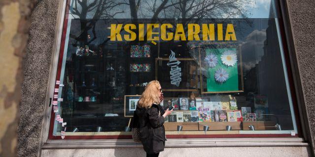 Polsk bokaffär i London.  Matt Dunham / TT NYHETSBYRÅN