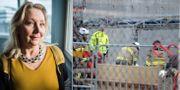 Erna Zelmin-Ekenhem. En man föll ner i en avloppsbrunn vid en arbetsplats på Fatbursgatan i Stockholm, 2016. TT