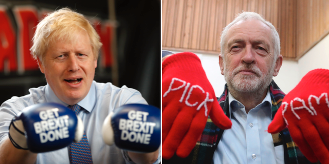 Boris Johnson/Jeremy Corbyn. TT