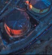 Den skadade cisternen i Norilsk. TT NYHETSBYRÅN