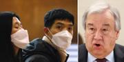 António Guterres till höger.  TT.