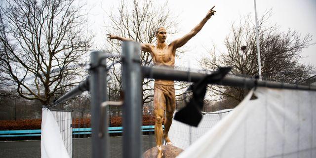 Zlatans staty i Malmö. EMIL LANGVAD / BILDBYRÅN
