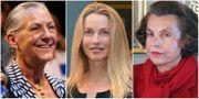 Alice Walton (Walmart), Lourene Powell Jobs (Apple, Disney) och Liliane Bettencourt (L'Oreal) tillhör de rikaste kvinnorna i världen. TT