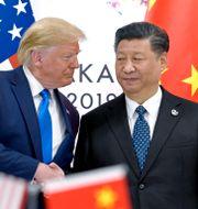 Donald Trump och Xi Jinping. Susan Walsh / TT NYHETSBYRÅN