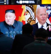 Kim Jong Un och Joe Biden Ahn Young-joon / TT NYHETSBYRÅN
