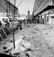 Mordplatsen. Anders Holmström/TT / TT NYHETSBYRÅN