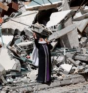 Bild från Gaza, 16 maj.  Adel Hana / TT NYHETSBYRÅN