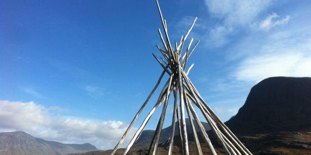 En struktur av en kåta vid Kungsleden i Lappland. Cara Anna / TT / NTB Scanpix