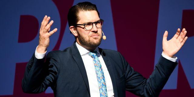 Jimmie Åkesson (SD). Pontus Lundahl/TT / TT NYHETSBYRÅN