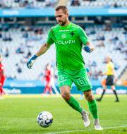 IFK Norrköpings målvakt Oscar Jansson under match mot Malmö FF 11 september. CHRISTIAN ÖRNBERG / BILDBYRÅN