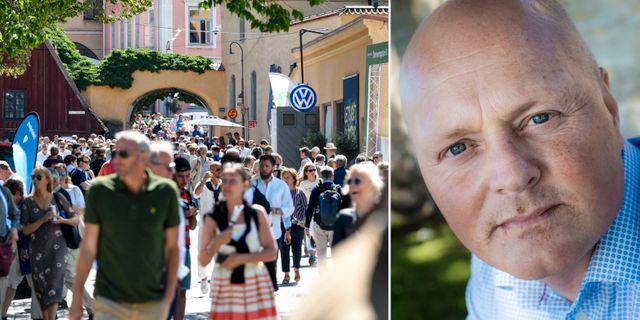 Almedalsveckan i Visby/Peter Lindvall.  TT