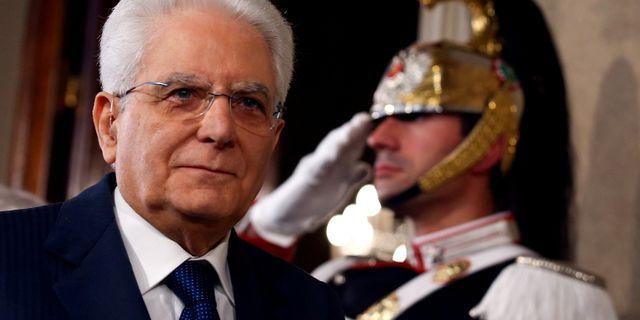 Italiens president Sergio Mattarella. Alessandro Bianchi / TT NYHETSBYRÅN