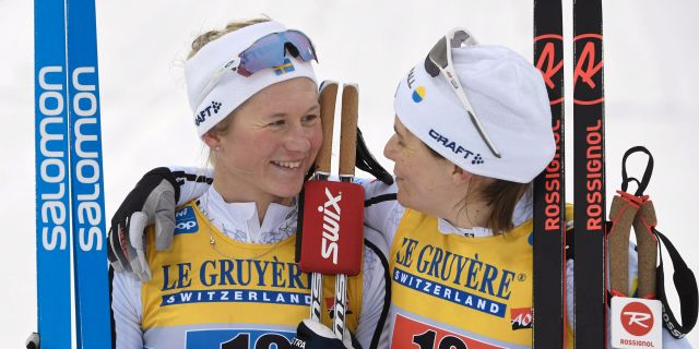 Maja Dahlqvist och Ida Ingemarsdotter. Arkivbilder. LEHTIKUVA / TT NYHETSBYRÅN