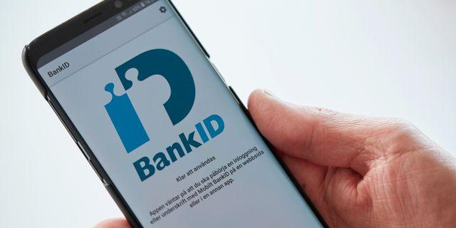 Bank-id. Andreas Hillergren / TT NYHETSBYRÅN