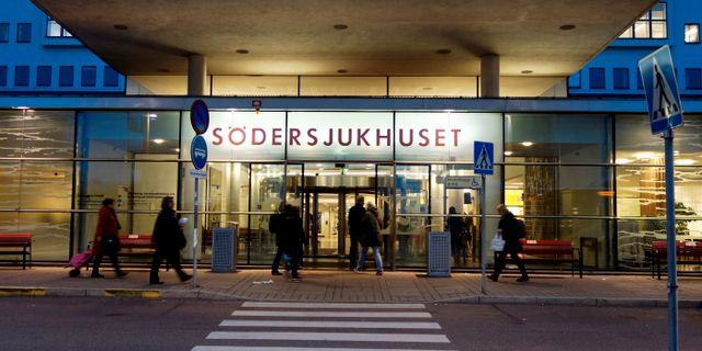 Södersjukhuset har gått upp i stabsläge Hasse Holmberg/TT / TT NYHETSBYRÅN