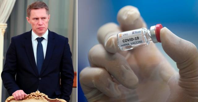 Michail Murasjko/Ett tilltänkt coronavaccin under ett test. TT