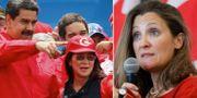 Nicolás Maduro med frun Cilla Flores. Chrystia Freeland. Arkivbilder. TT