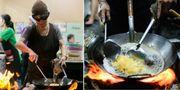70-åriga street food-legenden Jay Fai bossar i köket på den nya Michelinkrogen med samma namn. Getty