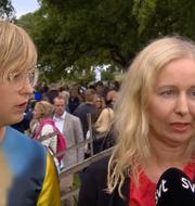 Lisa Pelling, chef på progressiva Dagens Arena och Expressens politiska chefredaktör Anna Dahlberg.  SVT