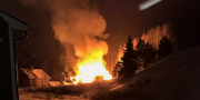 En verkstad i Krokoms kommun är övertänd Räddningstjänsten Jämtland