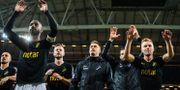 AIK jublar efter vinsten mot IFK Göteborg. JOHANNA LUNDBERG / BILDBYRÅN