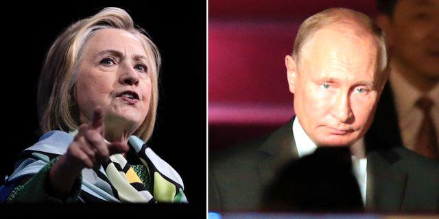 Clinton, Putin. Arkivbilder TT