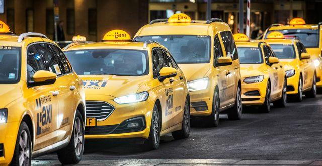 Taxibilar. Arkivbild. Tomas Oneborg/SvD/TT / TT NYHETSBYRÅN