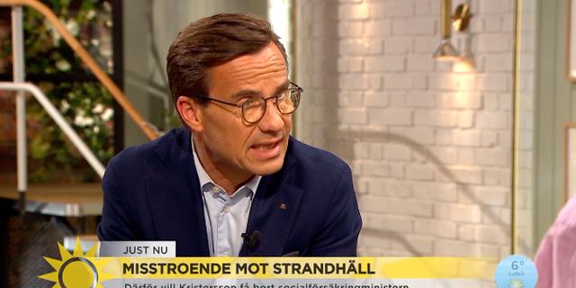 Ulf Kristersson (M) Skärmavbild TV4