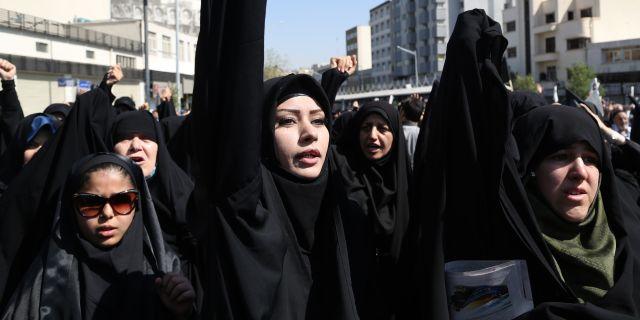 Protester motte drottning elizabeth