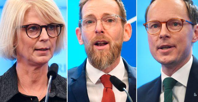 Elisabeth Svantesson, Jakob Forssmed och Mats Persson. TT
