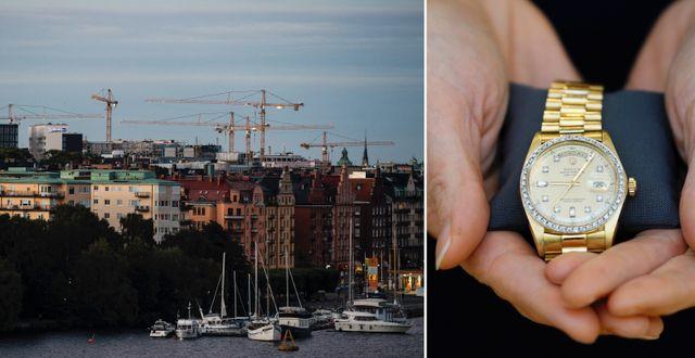 Kungsholmen/Rolex. Illustrationsbilder. TT