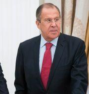 Sergej Shoigu och Sergej Lavrov. Pavel Golovkin / TT NYHETSBYRÅN