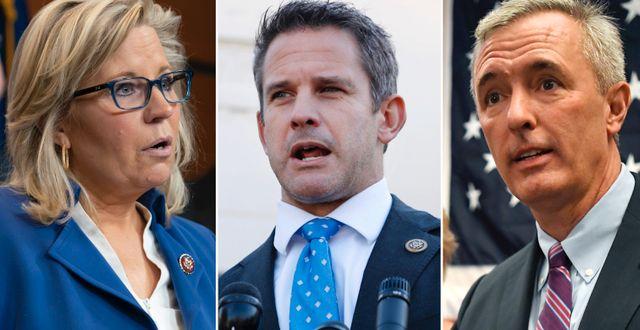 Liz Cheney, Adam Kinzinger och John Katko. TT