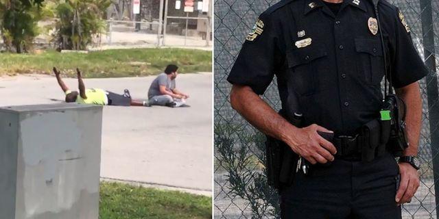 Video visar hur polisen skjuter liggande man