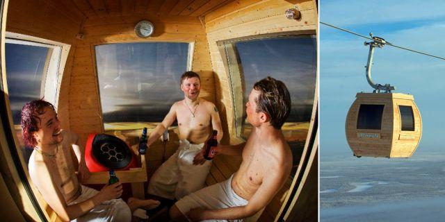 Kombinerad lift och bastu – snacka om två flugor i en smäll. Hellotravel.com / Ylläs Ski Resort