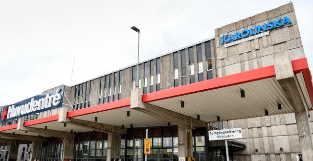 Karolinska Universitetssjukhuset, Huddinge.  Erik Simander/TT / TT NYHETSBYRÅN