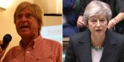 Tory-ledamoten Michael Fabricant och premiärminister Theresa May. Wikimedia Commons/TT