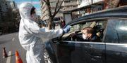 Virustest i Egypten i början av april. Burthan Ozbilici / TT NYHETSBYRÅN