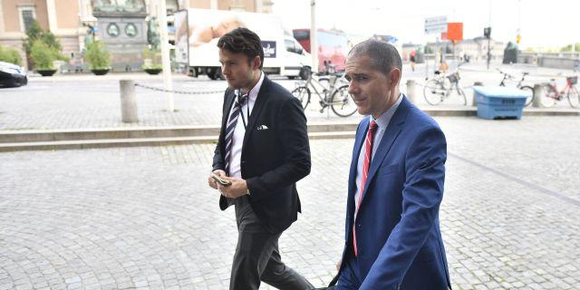 USA:s vice utrikesminister med ansvar för konsulära frågor Carl Risch (th) Erik Simander/TT / TT NYHETSBYRÅN