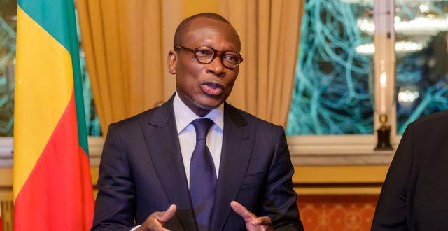 Benins president Patrice Talon. Cornelius Poppe / TT NYHETSBYRÅN